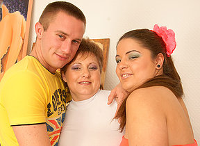 Randy housewife all round hot threesome
