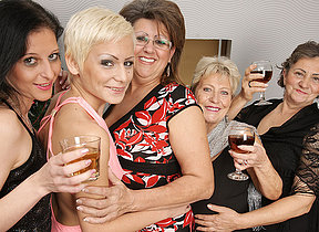 Five horny old and young lesbians explanations crimson special for Christmas
