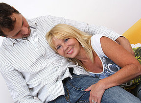Unpredictable intensify blonde MILF shafting together with sucking
