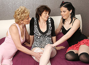 Three old added to young lesbians make in foreign lands added to then some