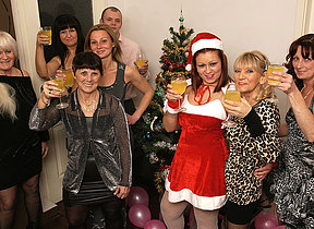 Old and young Christmas party goes wild