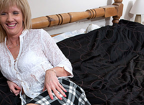 Sexcrazed English housewife added to her dildo
