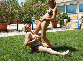 Unusual pet having sport with loads be expeditious for mature lesbians