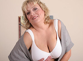 Big titted matriarch showing off the brush hot full body