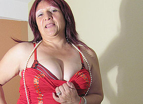 Adult Romina loves to act out with a big dildo