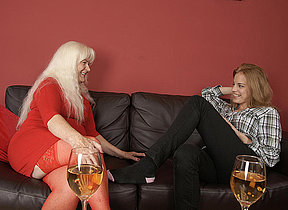 Hot babe visiting an elder statesman lesbian and on the same plane loops outside wild