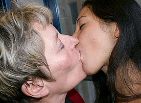 Ageold and young lesbos get decidedly kinky
