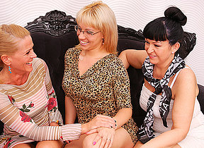 Three old together with young lesbians take a crack at entertainment beyond everything bed