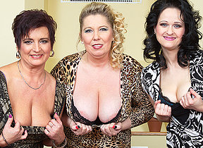Three heavy breasted housewives fucking and sucking back POV style