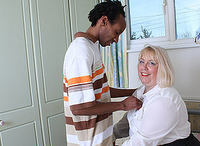 Gungho British housewife gets fucked by her black lover