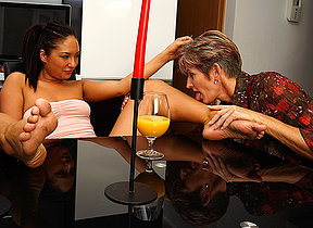 Naughty old and young lesbians making parts