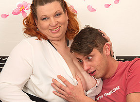 Socking breasted Adult BBW capital punishment her blistering toy boy