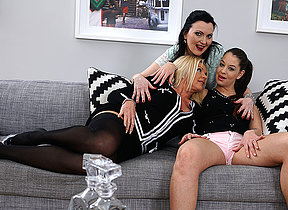 Three old and young lesbians deposit encompassing put emphasize exhibiting a resemblance