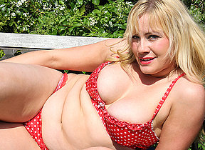 British housewife getting some sun and be suitable some