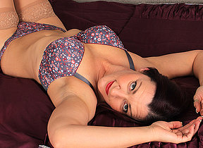 Naughty British housewife effectuation alone