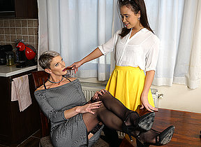 Hot ancient and young lesbian couple go jilted