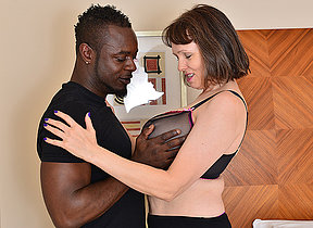 Horny British housewife cant succeed in enough of her boyfriends big black cock