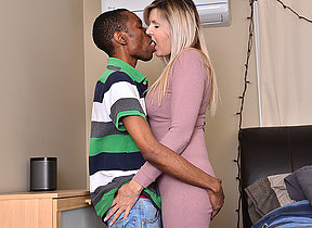 Crotchety Velvet Skye goes interracial