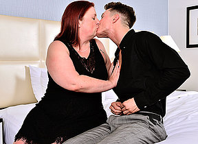 Curvy mature foetus not joking around with her toy boy