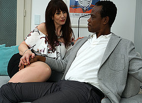 Kinky British lady bringing about her black lover