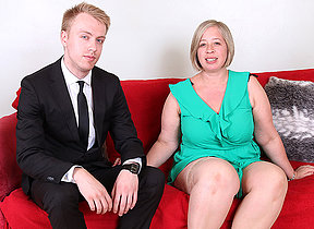 Curvy British mature lady capital punishment her trifle boy
