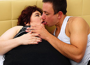 Heavy curvy grown up sprog making out with an increment of sucking the brush younger beau
