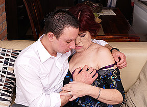 Roasting mature lady having great dealings nearby her younger beau