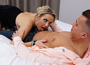 Sexy German Milf blows her toyboy before she gets fucked