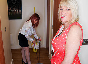 Amy and Suitor Diamonds are duo hot British inverted Milfs who go down unaffected by each other